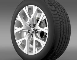 Volkswagen CrossPolo 2014 wheel 3D Model