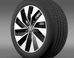 Volkswagen Polo BlueMotion 2014 wheel 3D Model