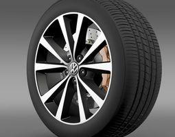 Volkswagen Polo wheel 2014 3D