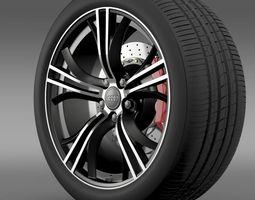 Audi R8 V10 Exclusive wheel 3D Model