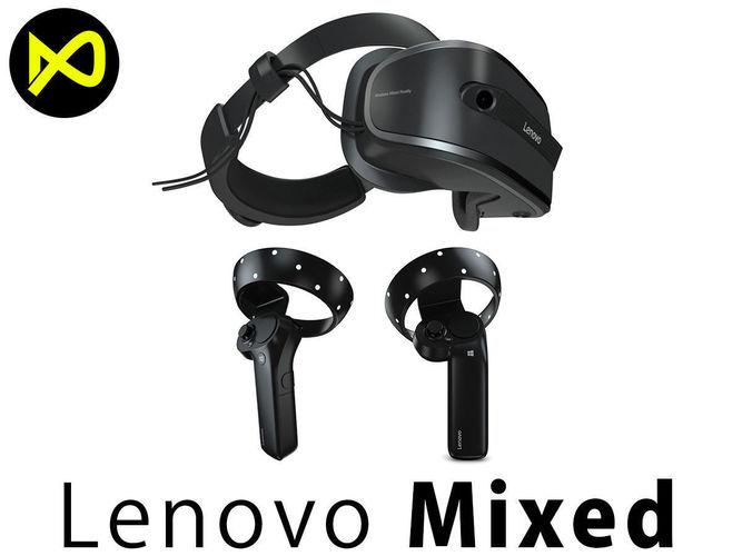 lenovo windows mixed reality set 3d model max obj mtl 3ds fbx c4d lwo lw lws 1