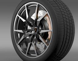 3D Lamborghini Aventador Roadster wheel