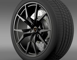 Lamborghini Aventador50 AE wheel 3D Model