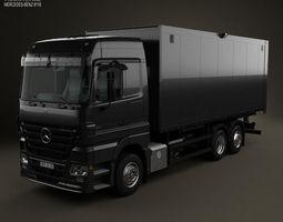 3D Mercedes-Benz Actros Box Truck 2002