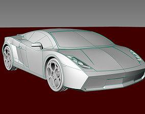 Car gallardo 2006 all detal merge car toys print 3dm stl