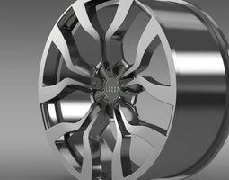 Audi R8 V10 spyder 2013 rim 3D Model
