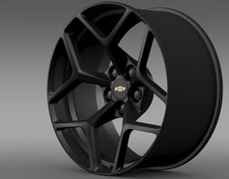 Chevrolet Camaro Z28 2014 rim 3D Model