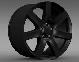 Jeep Wrangler Anlimited Altitude 2014 rim 3D Model