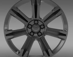 RangeRover Autobiography black rim 3D Model