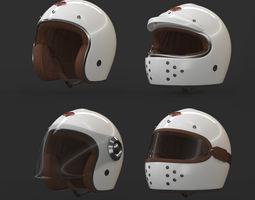 Ruby Motorcycle Helmet 3D model