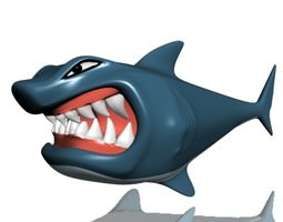 3D asset Hungry shark