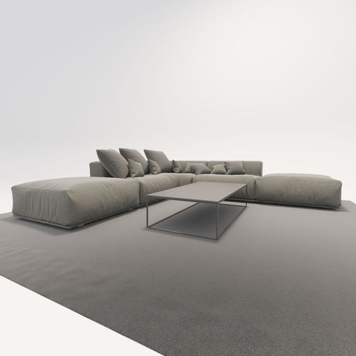 sofa poliform bolton 3d model max obj mtl 3ds fbx 1