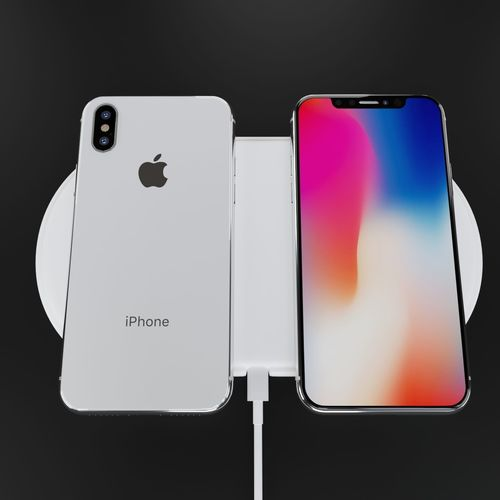 be06a4fc124 Apple iPhone X Silver and Space Gray High Poly Model