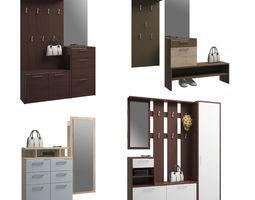 3D Set of hallway furniture