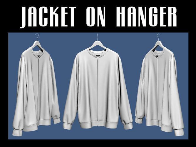 jacket on hanger 3d model obj mtl fbx blend dae 1