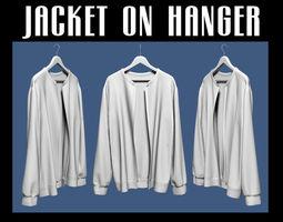 wearing Jacket on hanger 02 3D model