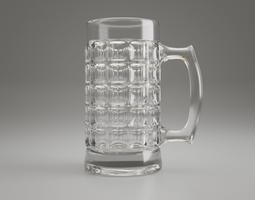 Dimpled Glass Beer Mug 3D october