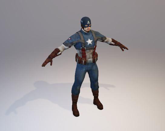 3d Model Captain America Fi Cgtrader