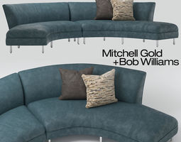 Mitchell Gold Sofia Sectional 3D