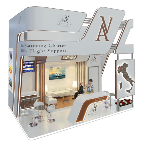 exhibition stand 4m x 6m 3d model max 1