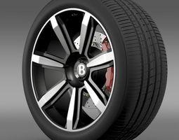 Bentley Continental GT wheel 3 3D Model