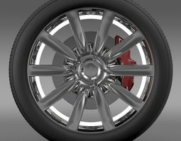 Bentley Continental GT wheel 1 3D Model