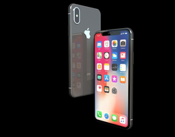 Apple iPhone X Ten 2017 3D model