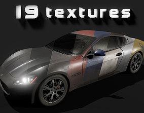 Maserati GT 3D asset rigged