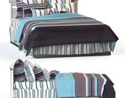 babybed 3D model Double bed blanket pillow bedding