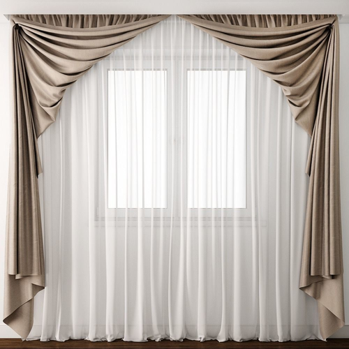 curtain19 3d model max obj mtl 1