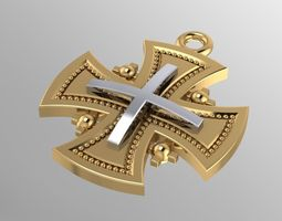 Cross Pendants 3D print model printing