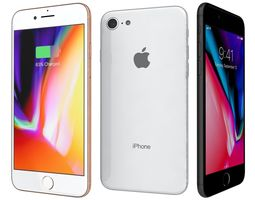 Apple iPhone 8 All Colors 3D