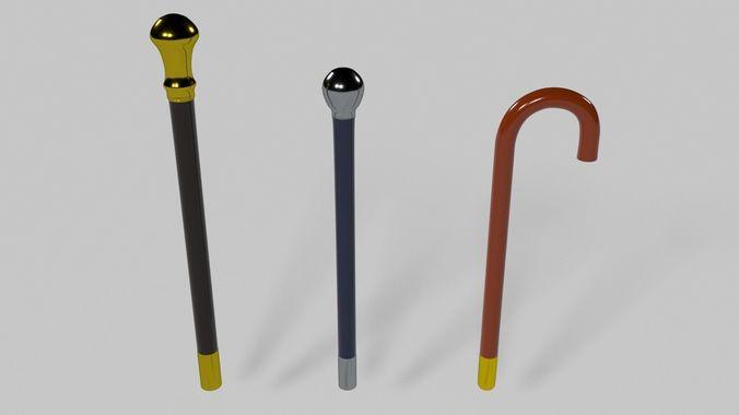 canes 3d model blend 1