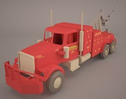 Heavy Duty Towing Truck 3D