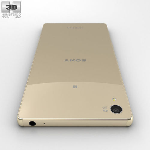 sony xperia z5 premium gold. sony xperia z5 premium gold 3d model max obj 3ds fbx c4d lwo lw lws 4 k