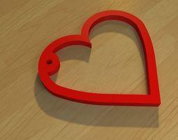 3D printable model heart-simple