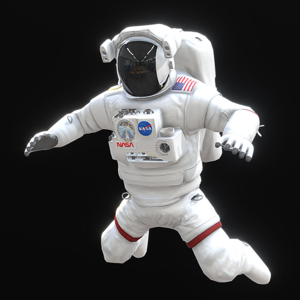 Low Poly Game Ready PBR Nasa Astronaut