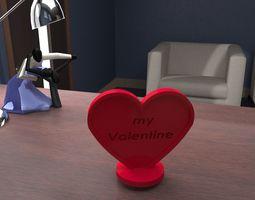 heart valentine love 3D printable model