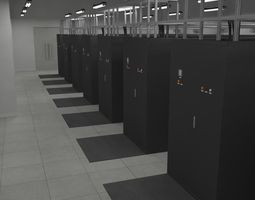Internet Data Center Room 3D Model