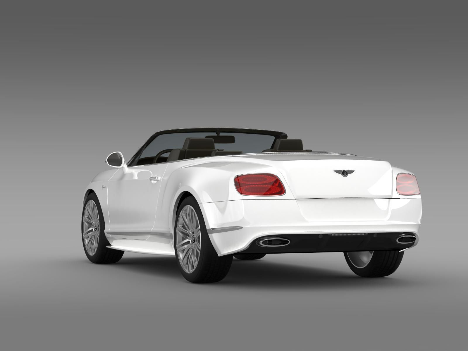 bentley continental gt speed convertible 2014 3d model max obj 3ds. Cars Review. Best American Auto & Cars Review
