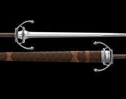 Witcher Deargdeith Sword 3D model