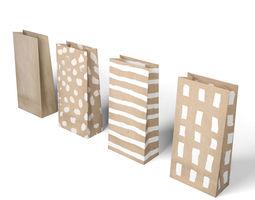 Natur Candy Bag - Simple Paper Bag 3D asset