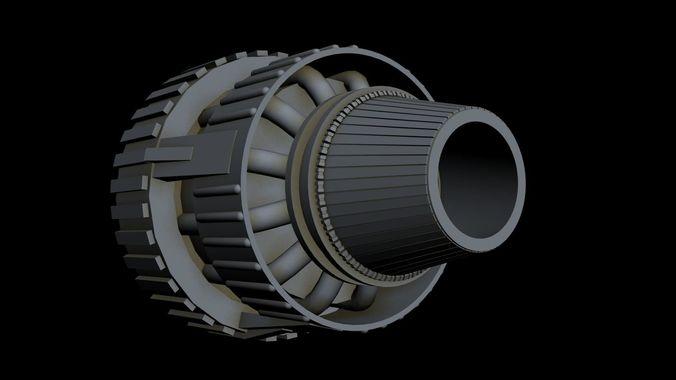 starship part 32 3d model max 3ds 1