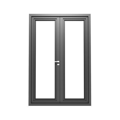 3d Model Modern Metal Glass Double Door Cgtrader