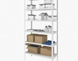 3D Medical Rack with Items