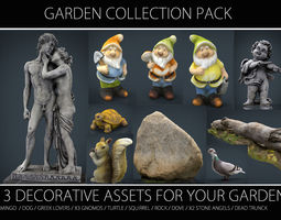 GARDEN COLLECTION PACK 3D asset