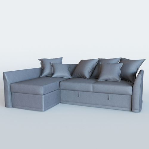 3d model holmsund sofa bed with chaise longue  cgtrader