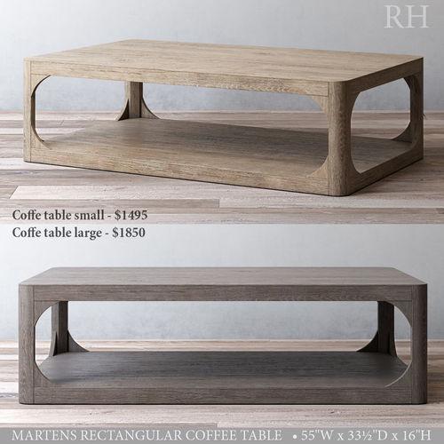 Charming Rh Martens Rectangular Coffee Table 3d Model Max Obj Mtl 3ds Fbx Mat 1 ...
