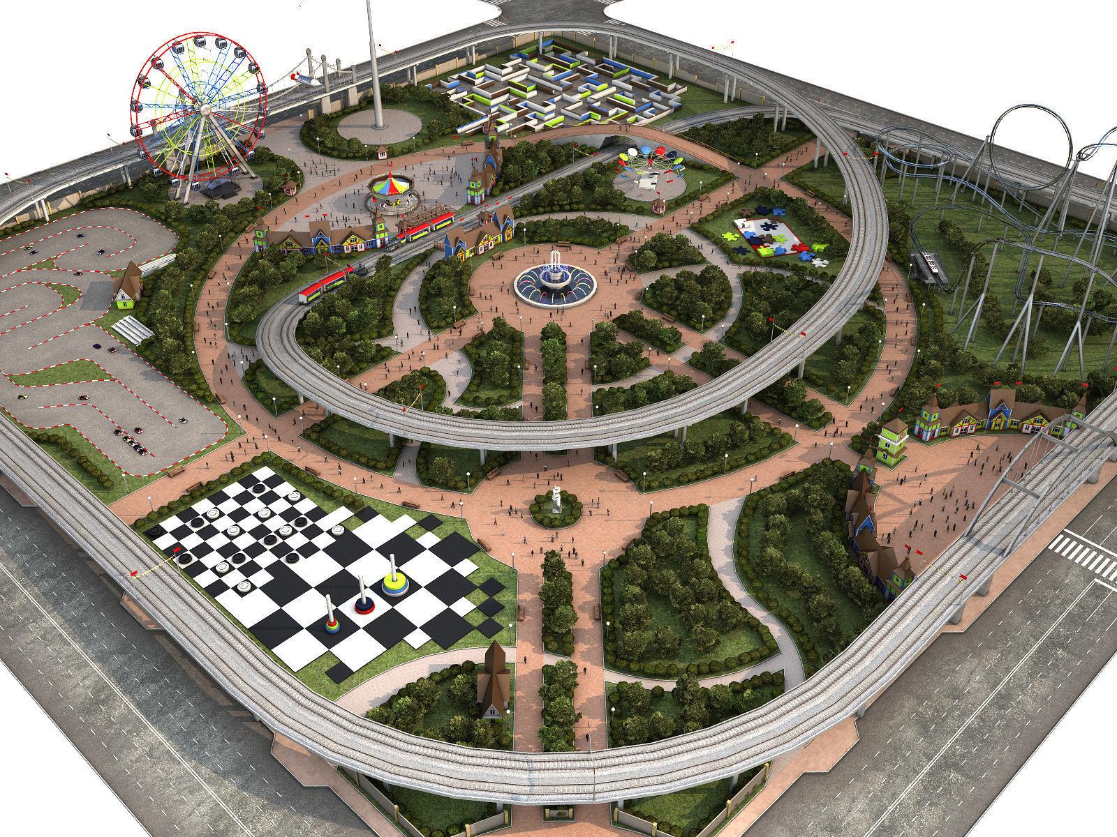 Amusement Park   3D model