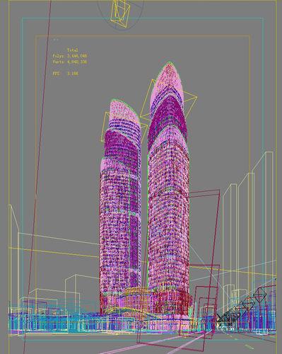 city scene 017 3d model max 2